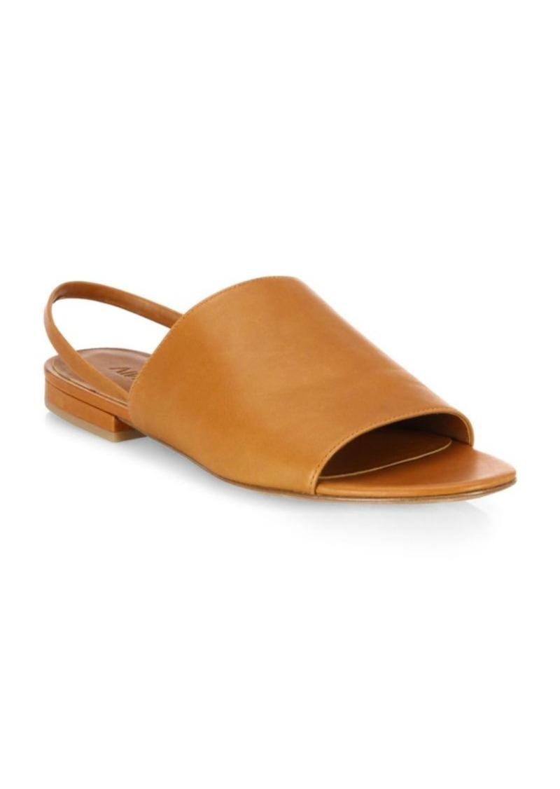 44ee2b75658 Vince Vince Dawson Leather Flat Slingback Slides