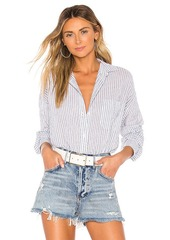 Vince DBL Bar Stripe Boxy Button Down