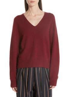 Vince Deep V-Neck Raglan Cashmere Sweater