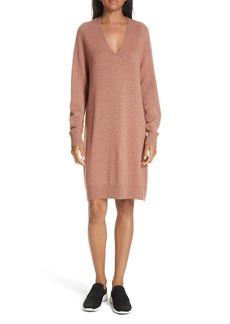 Vince Deep V-Neck Sweater Dress