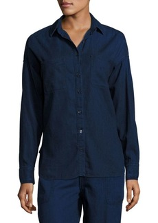 Vince Denim Patch Pocket Shirt