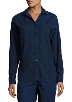 Vince Denim Patch Pocket Shirt