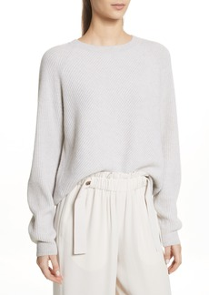 Vince Diagonal Rib Wool & Cashmere Sweater