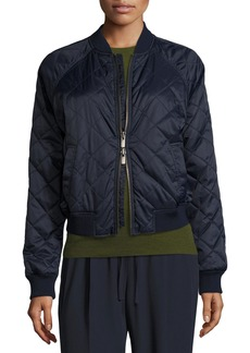 Vince Diamond-Quilted Bomber Jacket