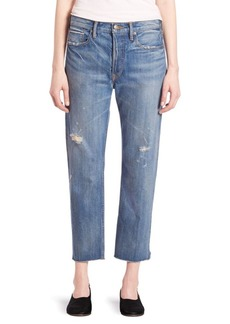 Vince Distressed Cropped Jeans