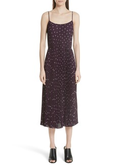 Vince Ditzy Bouquet Print Pleated Camisole Dress