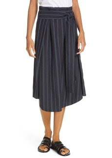 Vince Dobby Stripe Belted Skirt
