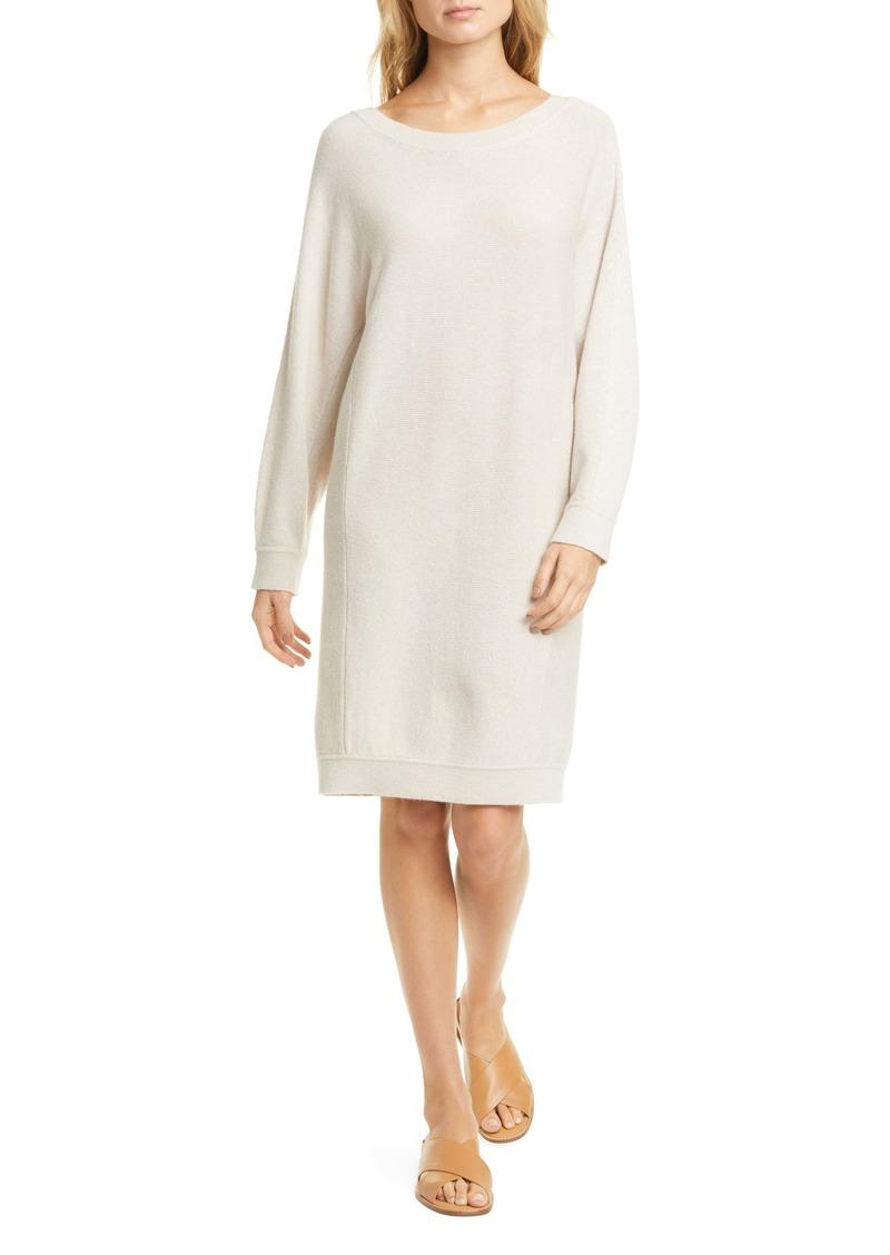Vince Dolman Sleeve Long Sleeve Cashmere Blend Sweater Dress