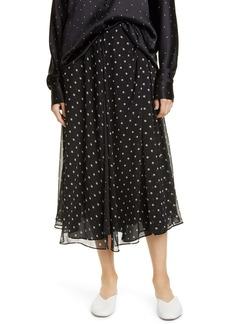Vince Dot Midi Skirt