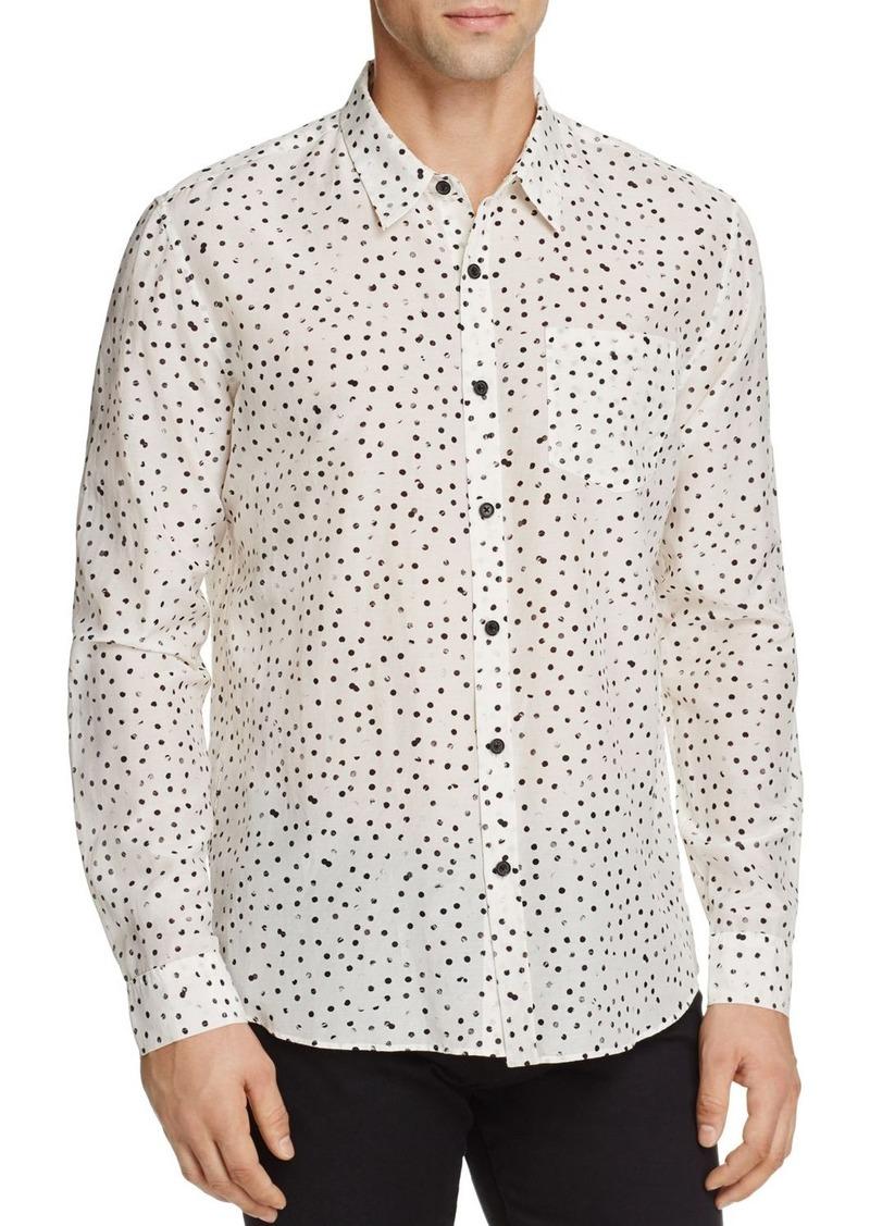 e55d91629cc3d Vince Vince Dot Print Silk Blend Slim Fit Button-Down Shirt