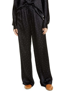 Vince Dot Print Silk Pants