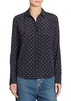 Vince Dotted Silk Shirt