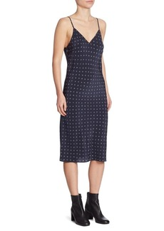 Vince Refined Dot Silk Slip Dress