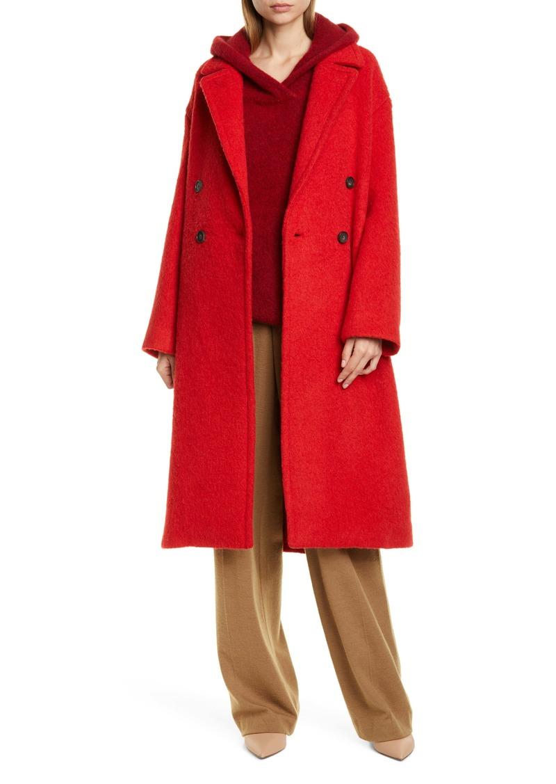 Vince Double Breasted Alpaca & Wool Blend Coat