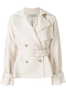 Vince double breasted belted jacket - Nude & Neutrals