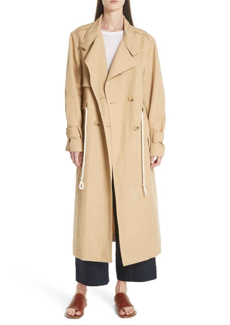 Vince Double Breasted Long Trench Coat