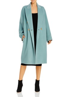 Vince Double Breasted Oversized Wool Blend Coat