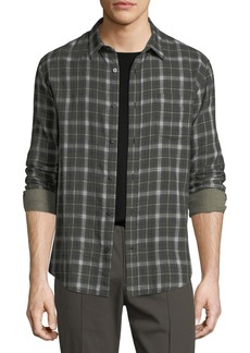 Vince Double-Face Plaid Shirt