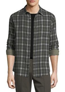 Vince Double-Face Plaid Shirt