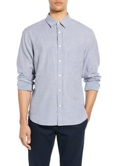 Vince Double Face Slim Fit Stripe Sport Shirt