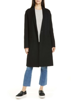 Vince Double Face Wool Blend Coat