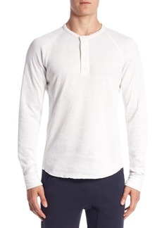 Vince Double-Knit Cotton Henley