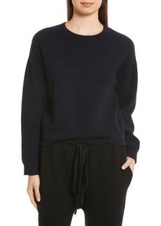 Vince Double Layer Cashmere & Cotton Sweater