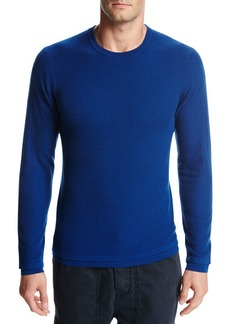 Vince Double-Layer Wool Crewneck Sweater