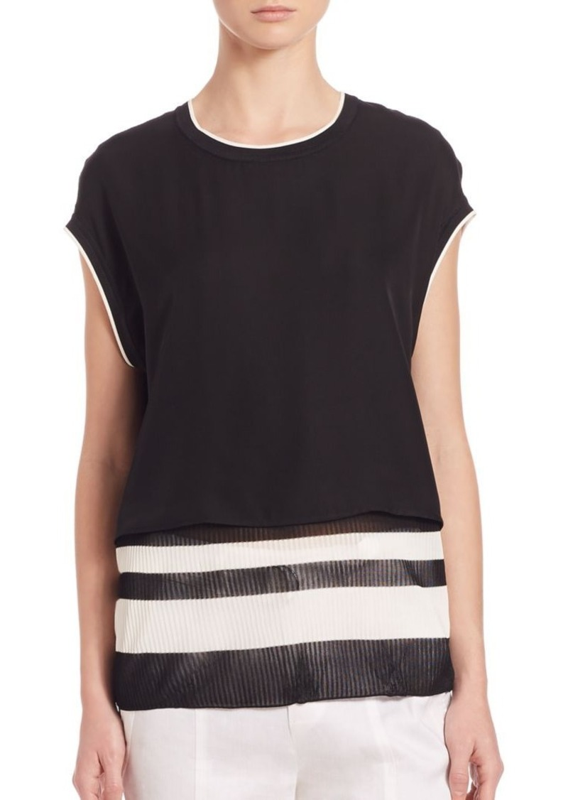 Vince Double Layered Silk Top