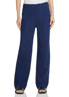Vince Double Patch Pocket Wide Leg Jeans in Rinse