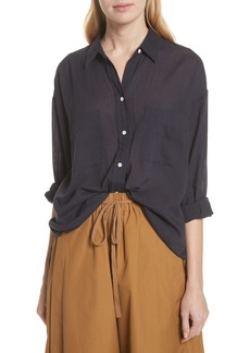 Vince Double Pocket Blouse