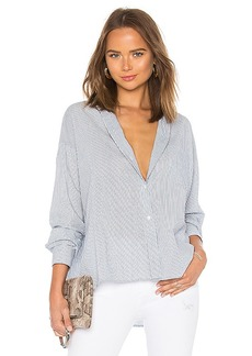 Vince Double Stripe Boxy Shirt