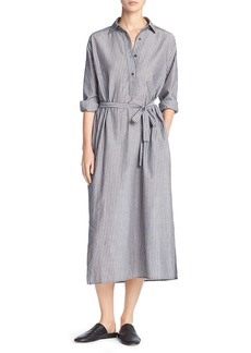 Vince Double-Stripe Midi Shirtdress