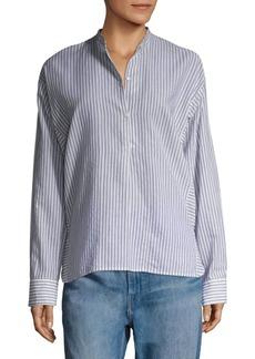 Vince Double Striped Button-Down Shirt