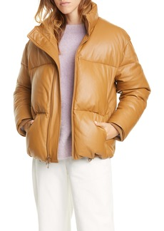 Vince Down Leather Puffer Jacket