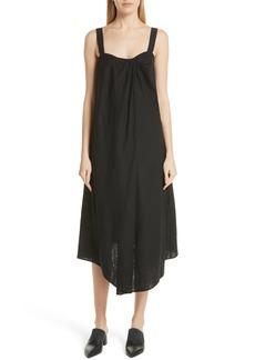 Vince Drape Neck Asymmetrical Hem Dress