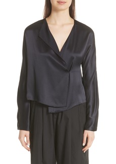 Vince Drape Panel Blouse