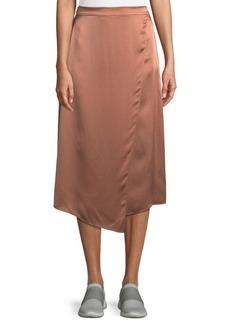 864a1ce2e Vince Draped Panel Silk Midi Skirt