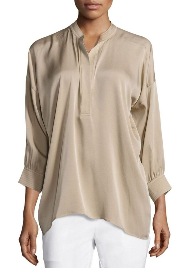 Vince Draped Shirred Blouse