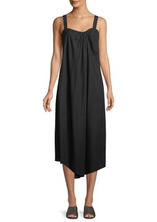 Vince Draped Sleeveless Midi Dress