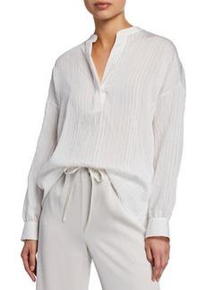 Vince Drapey Striped Pullover Tunic
