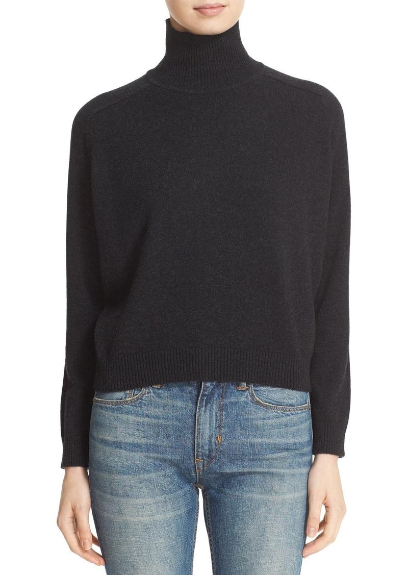 Vince Drop Shoulder Cashmere Turtleneck Sweater