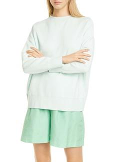 Vince Drop Shoulder Cotton Sweatshirt