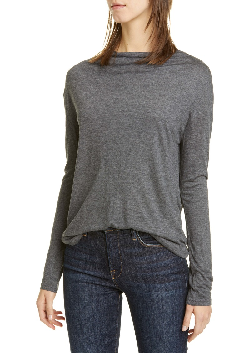 Vince Drop Shoulder Long Sleeve Tee