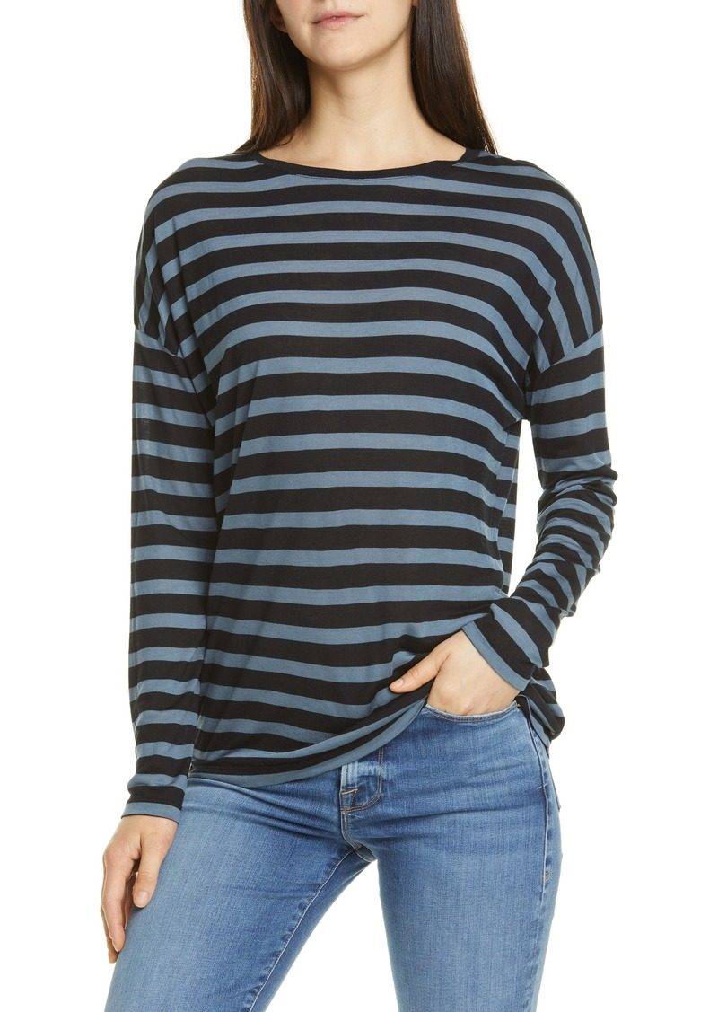 Vince Drop Shoulder Stripe Tee
