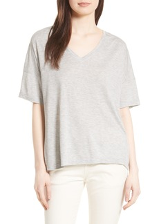 Vince Drop Shoulder V-Neck Tee
