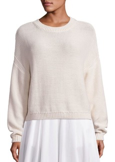 Vince Dropped Shoulder Rib-Knit Pullover