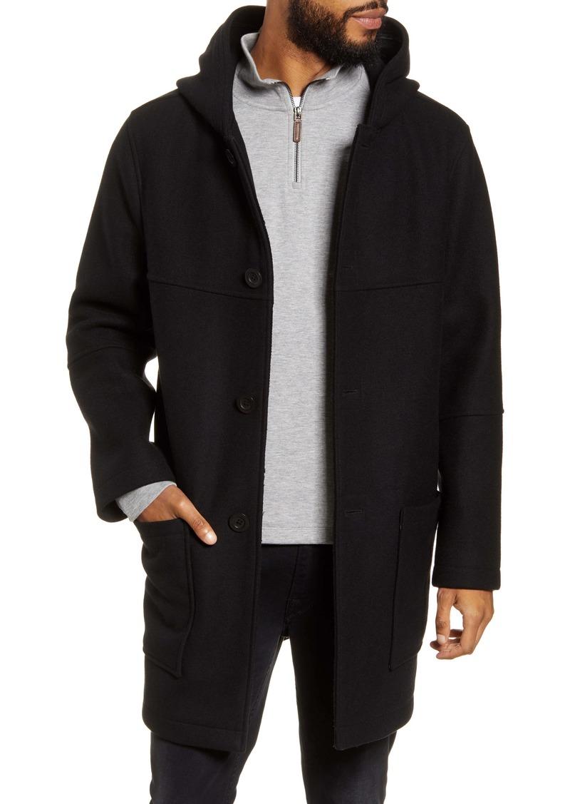 Vince Duffle Hooded Wool Blend Coat