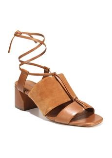 Vince Dunaway Mixed Self-Tie Sandals  Brown