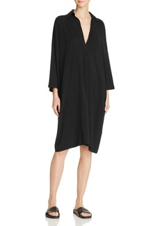 Vince Easy Knit Shirt Dress